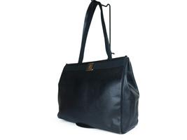 Salvatore Ferragamo VARA Lizard Embossed Leather Black Shoulder Bag FT17... - $189.00