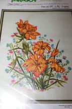 "PARAGON 0213 Tiger Lilies Needlecraft Kit 18"" x 22"" Flowers Adele Veres - $41.09"