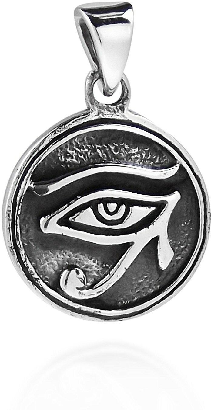 Primary image for Circle Eye Of Horus Egyptian Symbol .925 Sterling Silver Pendant