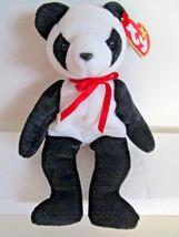TY Beanie Babies FORTUNE black & white PANDA bear Plush Toy  1997 - $5.99