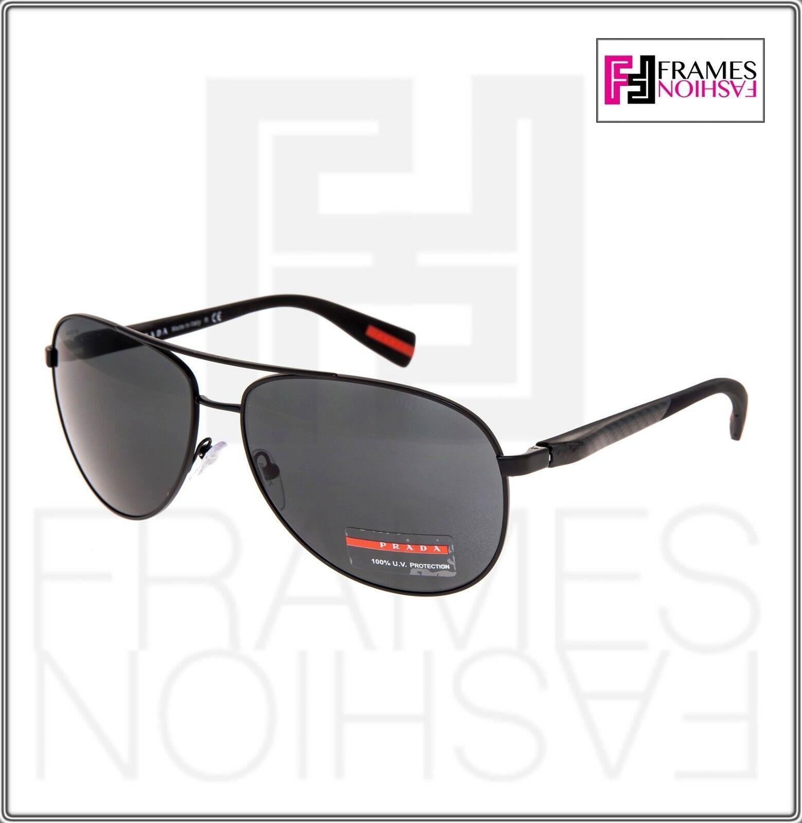 PRADA LINEA ROSSA NETEX PS51OS Black Aviator Sport Sunglasses SPS 51O Men image 7