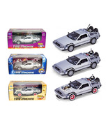 Collect All 3pc Set Delorean Time Machine Trilogy Set Back To The Future... - $100.11