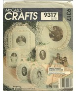 McCall's Sewing Pattern 9317 Victorian Romantic Lacy Picture Frames New - $9.98