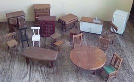 "18 Pieces Wooden Doll House Furniture.  5 are Marked ""Price Products."" - $50.00"