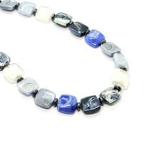 NECKLACE ANTICA MURRINA VENEZIA WITH MURANO GLASS BLUE SILVER BLACK CO988A06 image 5