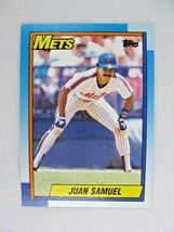 Juan Samuel New York Mets 1990 Topps Baseball Card Number 85 - $0.98