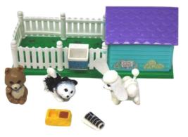 100% Vintage Complete Littlest Pet Shop LPS COZY HOME Puppy Pals Playhou... - $44.99