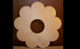 "Unfinished wood wooden WREATH shape style 1 - 11.5'' x 11.5"" - $6.00"