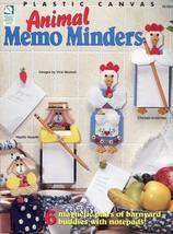 Animal Memo Minders Cow, Pig, Cat, Dog, Hen Plastic Canvas PATTERN/INSTRUCTIONS - $4.47