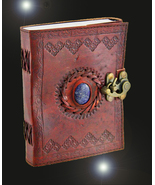 Haunted journal 27X SCHOLAR ENHANCED WISH MAGNIFIER MAGICK LEATHER WITCH... - $36.00