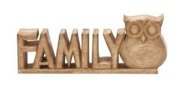 WOOD FAMILY OWL - $38.47