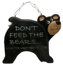 Vintage Black Bear Signage for Home or Cabin Decor  - $9.00