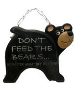 Vintage Black Bear Signage for Home or Cabin Decor  - $166,28 MXN