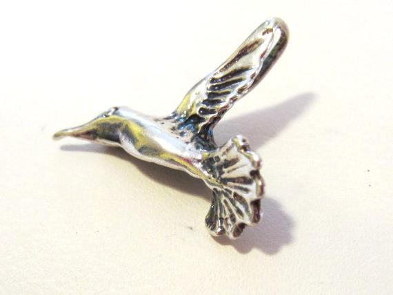 Sterling silver 925 Hummingbird pendant