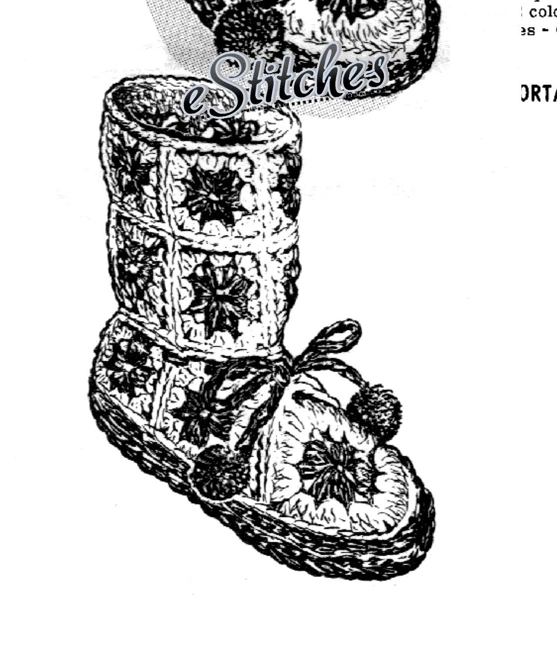 4f7d0b70e857 Slippers boots 6419 001 copy. Slippers boots 6419 001 copy. Previous.  Childs Granny Square Slippers or Boot- Crochet ...