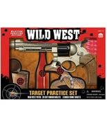 Wild West Toy Pellet Gun Pistol 3 Target Practice Set with 20 Rubber pel... - $24.61