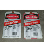 Vintage DANGER Tags Equipment Locked Out 4x7 15-306 15-301 25/pk - $24.99