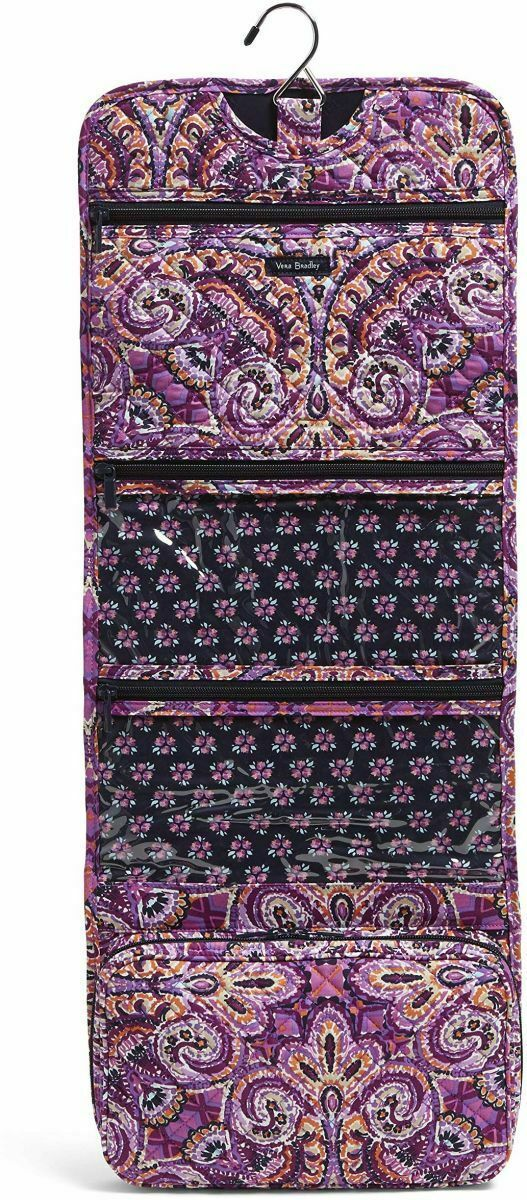Vera Bradley Iconic Hanging Travel Organizer NWT Dream Tapestry Purple Packable image 2