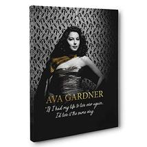 Ava Gardner Motivational Quote Canvas Wall Art - $34.65