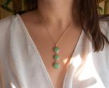 Turquoise  Necklace, Triple Turquoise Necklace, Genuine Turquoise Stone,Circle - €26,64 EUR