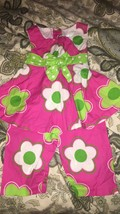 EUC - Girls Rare Editions Spring & Summer 2pc Outfit - 2T - Hot Pink w/ Flowers - $13.95