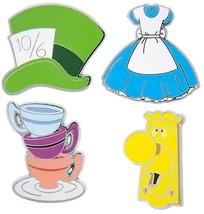 Disney Parks Alice in Wonderland Icons 4 Pin Set - $23.99