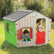 Kids Indoor Outdoor Plastic Playhouse House Pretend Play Garden Home Yar... - $243.23