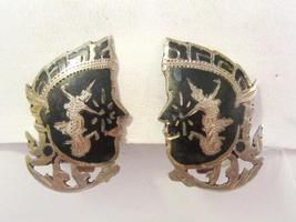 Siam Antique vintage sterling silver 925 Clip earrings - $25.00