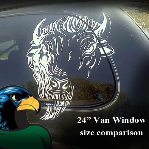 "Off Road Crazy Moose Cartoon Vinyl Decal Sticker (24"" by 25"")"