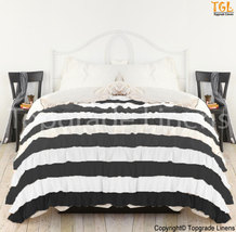 New 1000TC Egyptian Cotton Waterfall Twin Color Ruffle Duvet Cover - All... - $159.99