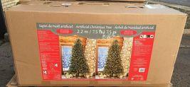 7.5′ Pre-Lit LED Christmas Tree Surebright Dual Color EZ Connect image 7
