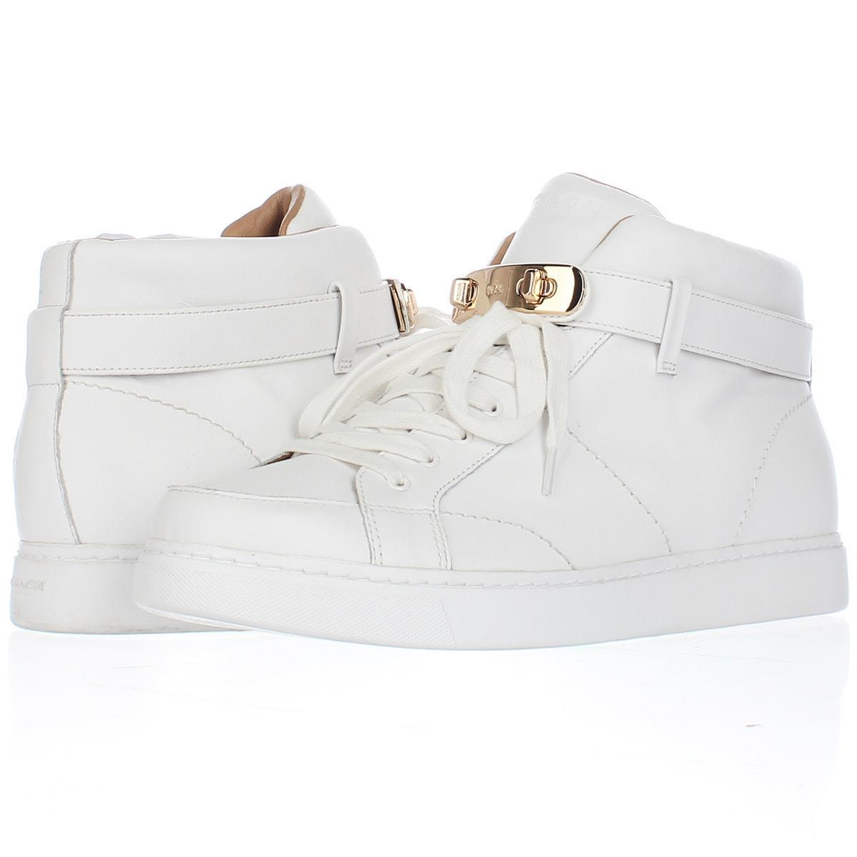 Fs 22461 coach richmond fleece lined high top fashion sneakers white 1