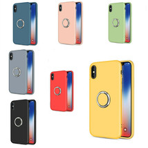 For iPhone XS Max XR X 7 Plus Shockproof Liquid Silicone Rubber Back Cas... - $19.30