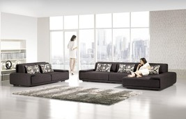 AE-L2002L Contemporary 3Pcs Microfiber Sectional Sofa - $2,852.21