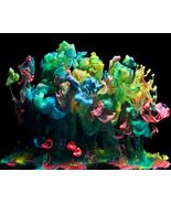 "Abstract Metal Print Wall Decor ""Color Eruption"" - $240.00"