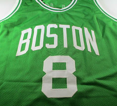 KEMBA WALKER / AUTOGRAPHED BOSTON CELTICS GREEN CUSTOM BASKETBALL JERSEY / COA image 2