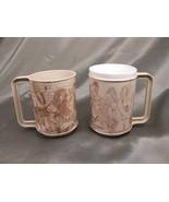 Pair 1960's Dark Folk Art San Quentin State Prison Coffee Mugs - $850.00