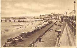 Madeira Drive Brighton England Vintage 1929 Post Card  - $7.00
