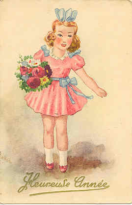 Primary image for Fleuureuse Aniee French Vintage 1948 Post Card