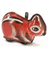 1930s J. CHEIN Vintage Tin Litho Wind-Up Red Chipmunk Squirrel Toy Pressed Steel - $598,40 MXN