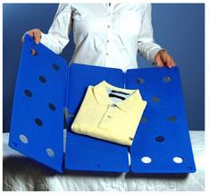 LARGE Flip Fold Clothes Folder Laundry Organizer BLUE - $24.99