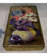 Vintage GEORGE W. HORNER Tin Dainty Dinah Candy Souvenir Flowers Collect... - $24.95