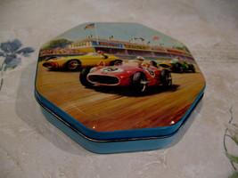 Vintage Blue Bird Confectionery Souvenir Tin Race Cars - $14.99