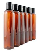 8oz Empty Plastic Bottles with Disc Top Flip Cap 6 pack; BPA-Free Contai... - $13.19