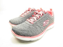 Skechers Flex Appeal 2.0 Womens Sneakers Gray/Coral Size 8.5 - $48.37