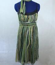 Sangria 100% Silk Chiffon A-Line Dress Size 6 NEW - $28.04