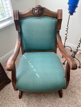 Vintage Antique Hand Carved Early Victorian Eastlake Solid Hardwood Arm Chair - $399.99