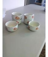 Vintage Hall's Orange Poppy Custard Cups -(6) - $18.35