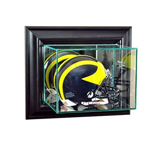 Perfect Cases NFL Wall Mounted Mini Helmet Glass Display Case, Black