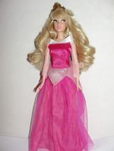 Disney Store Classic Princess Aurora Barbie doll Sleeping Beauty side lo... - $9.99